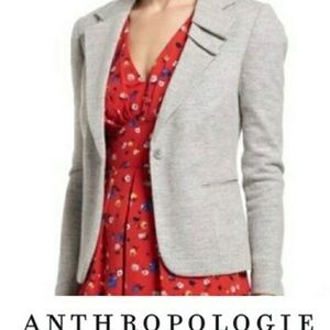 Anthropologie Gray Wool Blend Blazer by Elevenses